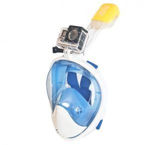 מסכת צלילה לנוער ובוגרים Aquaview180° עם שנורקל מובנה | כחולה