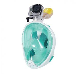 מסכת צלילה לנוער ובוגרים Aquaview180° עם שנורקל מובנה | ירוקה