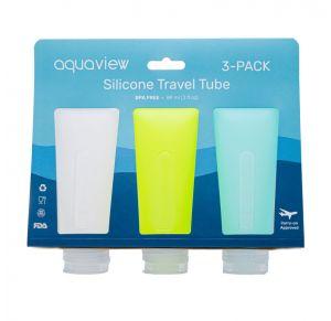 מארז שלישיית בקבוקי סיליקון לנסיעות - ים | SEA
