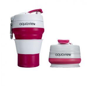 כוס מתקפלת רב פעמית לשתיה חמה וקרה 350 מ