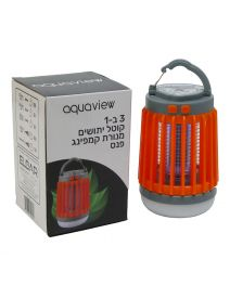 מנורת קמפינג נטענת USB עם פנס וקוטל יתושים